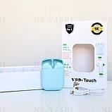 Беспроводные bluetooth-наушники V99-Touch с кейсом, blue, фото 2
