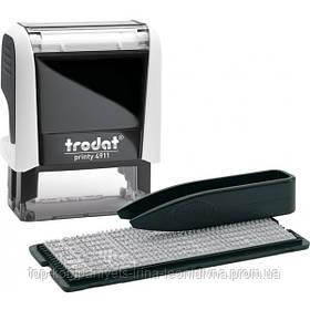 Штамп текстовий TRODAT самонаборный 3-х рядковий 38x14 мм білий (4911 Р4 Т/3/ укр)