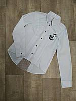 Блуза-рубашка для девочки белая 146