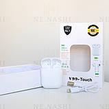 Беспроводные bluetooth-наушники V99-Touch с кейсом, white, фото 2