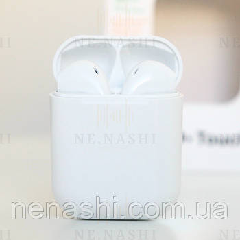 Беспроводные bluetooth-наушники V99-Touch с кейсом, white