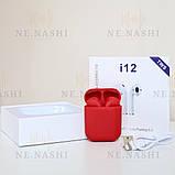 Навушники безпровідні i12. Червоні, фото 2