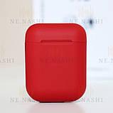 Навушники безпровідні i12. Червоні, фото 3