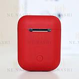Навушники безпровідні i12. Червоні, фото 4