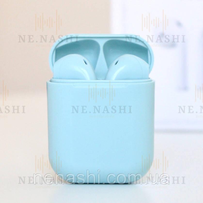 Навушники безпровідні i12. Блакитні