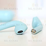 Навушники безпровідні i12. Блакитні, фото 6