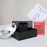 Наушники беспроводные в дизайне AirPods 2, 1:1. Чип Rhoda. Черные. Чехол в подарок, фото 2