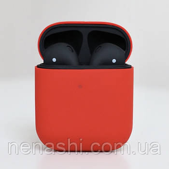 Черные Apple AirPods 2, копия 1:1. Чип Rhoda. Черные. Чехол в подарок
