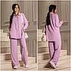 Свободный женский костюм лиловый из креп-жатки (5 цветов) ЕФ/-12670