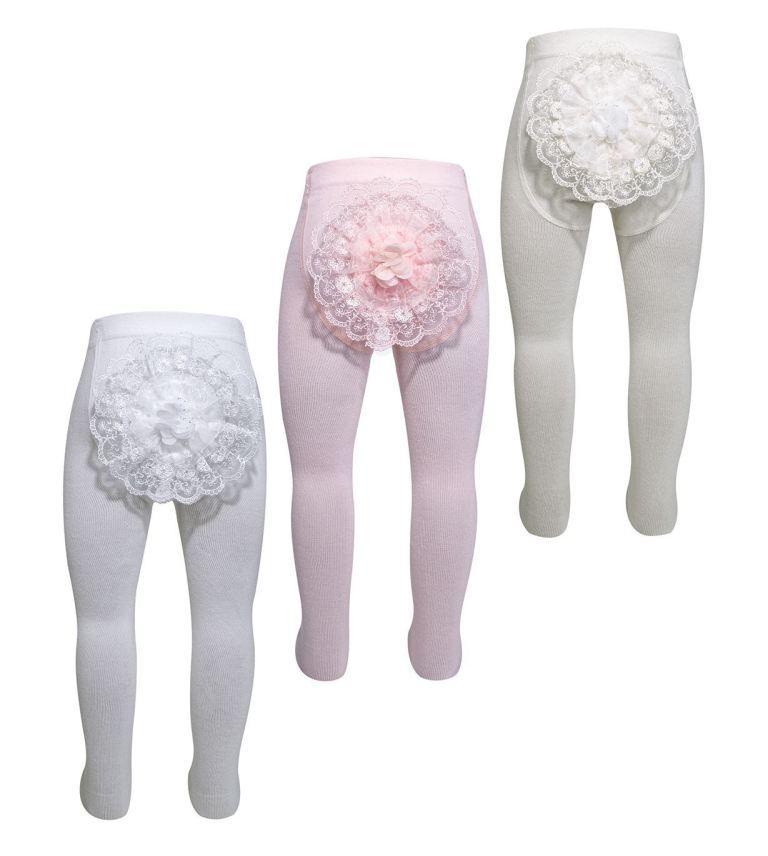 Колготки для грудничков с украшением на попе