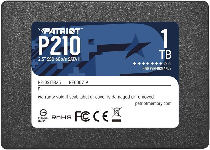 "SSD 1TB Patriot P210 2.5"" SATAIII TLC (P210S1TB25)"