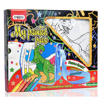 Набор для детского творчества Сумочка Динозавр, фото 2