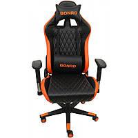 Кресло Геймерское Bonro 1018 Оранжевое игровое компьютерное кресло професійне геймерське крісло