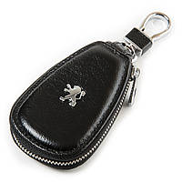 Авто-ключница кожа F633 Peugeot .Купить оптом и в розницу кожаные ключницы.