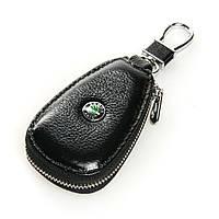 Авто-ключница кожа F633 Skoda.Купить оптом и в розницу кожаные ключницы.