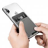 Чохол-тримач для карт на смартфон Baseus Back Stick Silicone Темно-сірий (ACKD-A0G)
