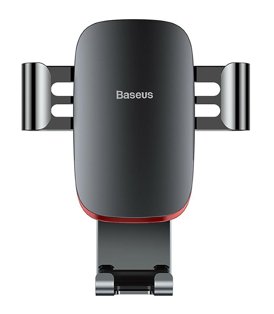 Держатель (автодержатель) для телефона в машину Baseus Metal Age Темно-серый/ Красный (SUYL-D0G)