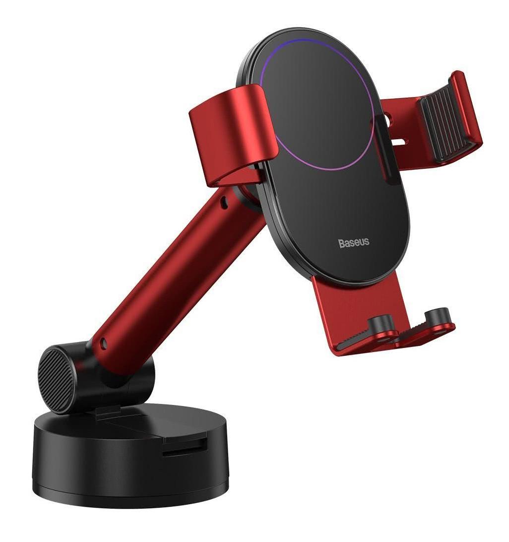 Держатель (автодержатель) для телефона в машину Baseus Simplism Gravity Красный / Черный (SUYL-JY09)