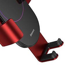 Держатель (автодержатель) для телефона в машину Baseus Simplism Gravity Красный / Черный (SUYL-JY09), фото 3