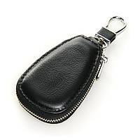 Авто-ключница кожа F633  black.Купить оптом и в розницу кожаные ключницы.