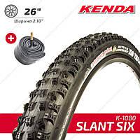 "Kenda 26"" K-1080 Slant six Покрышка шина для велосипеда с камерой ширина 2.10"""