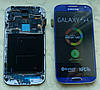 Samsung Galaxy S4 GT-i9500 дисплей LCD + тачскрін з рамкою сенсор оригінальний синій