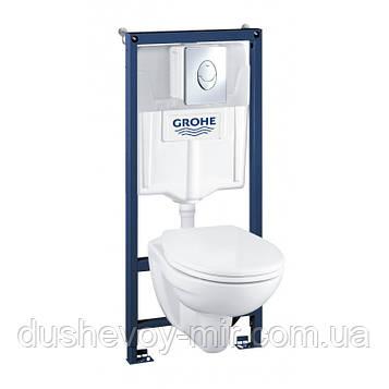 GROHE Solido Perfect Набор 4 в 1 - инстал. 38721001, подвесным унитазом 51,7х35.4 в компл.с сидением