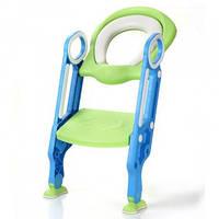 Детское сиденье на унитаз со ступенькой и ручками BabyBBZ