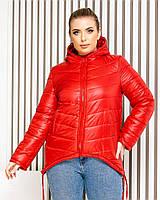 Куртка-парку жіноча, БАТАЛ, колір червоний, арт. 210, фото 1