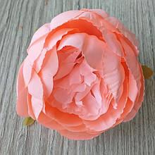 Півонія штучний 8-10 см см колір корал (головка без листя) - 18 грн