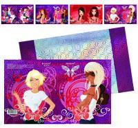 Обкладинка для зошитів, 350 * 216мм., голографічна для дівчаток (20шт/уп.)