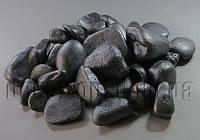 Камінь декоративний чорний перламутр 1-3см/600гр №44