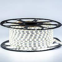 Стрічка світлодіодна біла 220V smd2835 48лед 6Вт герметична 1м, фото 1