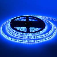 Стрічка світлодіодна синя 12V smd2835 120лед негерметична 1м, фото 1