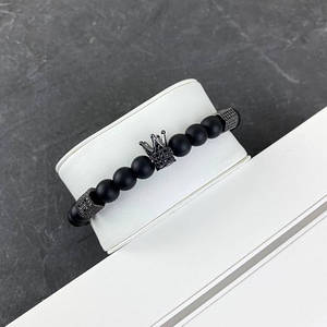 2B Rich Bracelet King 8 mm, 19 cm All Black