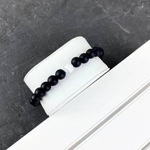 2B Rich Bracelet Pearl 8 mm, 19 cm Black-White