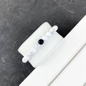 2B Rich Bracelet Pearl 8 mm, 19 cm White-Black