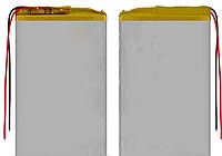 Аккумулятор, 80 мм, 55 мм, 3,2 мм, Li-ion, 3,7 В, 1350 мАч