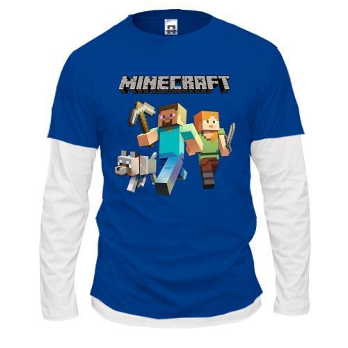 Лонгслив комбі Minecraft