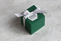 """Коробочка """"Куб"""" изумрудный, фото 1"""