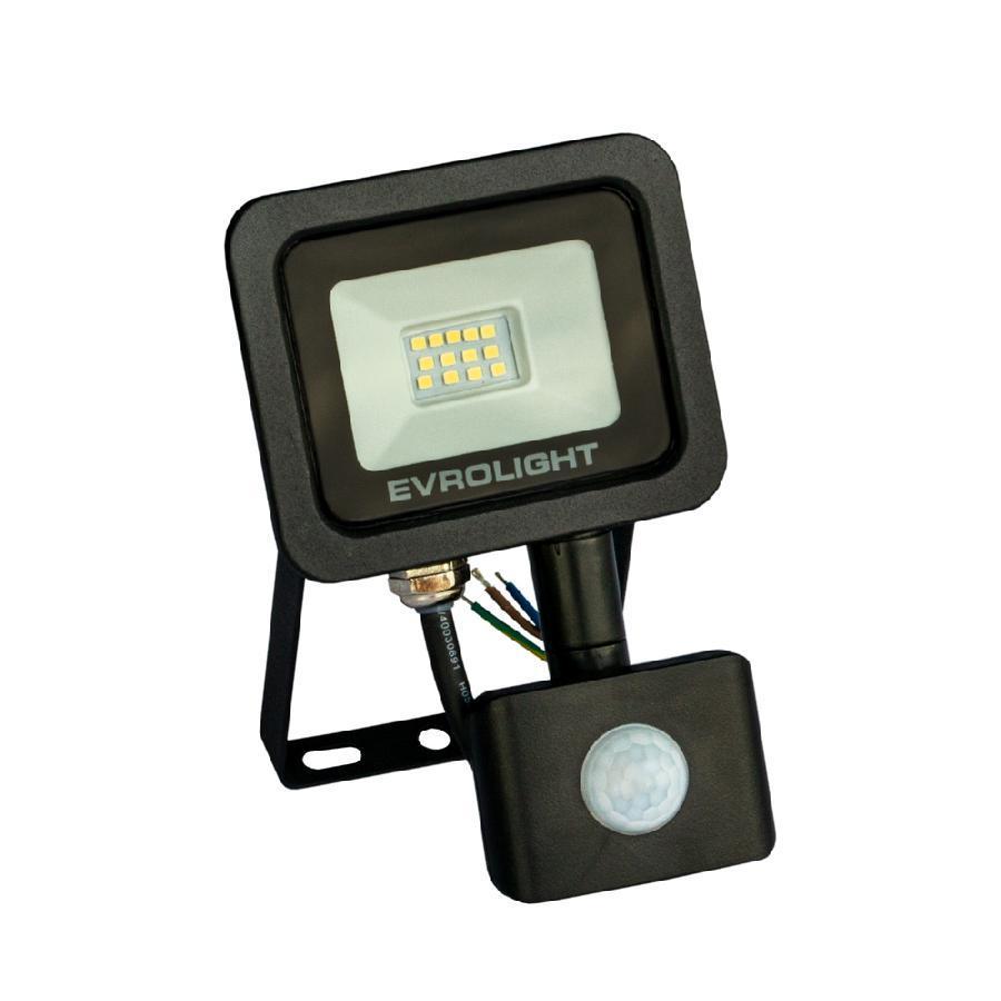 Прожектор светодиодный с датчиком движения EVROLIGHT FM-01D-10 10W 6400К