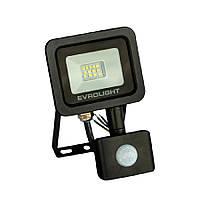 Прожектор светодиодный с датчиком движения EVROLIGHT FM-01D-10 10W 6400К, фото 1