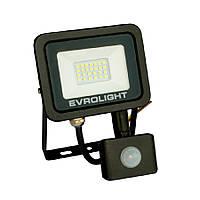 Прожектор світлодіодний з датчиком руху EVROLIGHT FM-01D-20 20W 6400К, фото 1