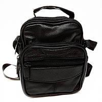 Чоловіча сумка крос-боді натуральна шкіра чорна Арт.V-6680 (Китай)
