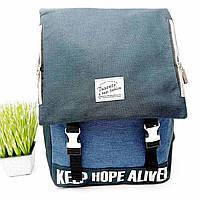 Стильний рюкзак поліестер синій Арт.8237 (Китай)
