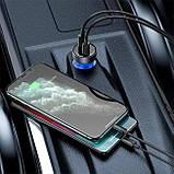 Зарядний пристрій авто з швидкою зарядкою Baseus Particular Digital Display QC+PPS Dual Quick Charger 65W, фото 5