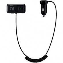 FM-модулятор (трансмиттер) в авто Baseus T typed S-16 (Bluetooth, MP3, MicroSD, AUX) c функцией зарядного