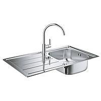 Набір кухонна мийка Grohe EX Sink 31562SD0 K200 і змішувач BauEdge 31367000