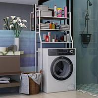 Стеллаж для хранения над стиральной машиной регулируемый по высоте белый Laundry Rack TW-106 SKL11-291022