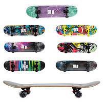 Скейт пениборд деревяный PU колеса